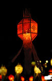 Decoración roja de la linterna durante Año Nuevo chino Fotografía de archivo