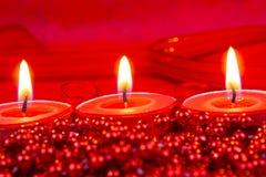 Decoración roja de la Navidad Fotografía de archivo libre de regalías