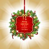 Decoración roja de la Navidad Fotos de archivo