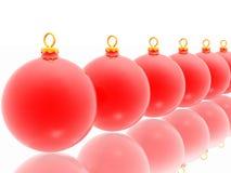 Decoración roja de la Navidad en el fondo blanco ilustración del vector