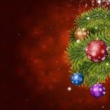 Decoración roja de Navidad del día de fiesta Imágenes de archivo libres de regalías