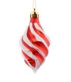Decoración roja del árbol de la Navidad. Foto de archivo libre de regalías