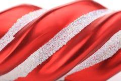 Decoración roja del árbol de la Navidad. Imagen de archivo