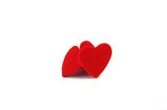 Decoración roja del corazón Imágenes de archivo libres de regalías