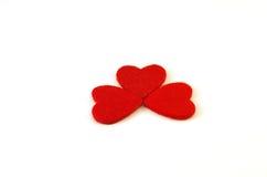 Decoración roja del corazón Fotografía de archivo libre de regalías