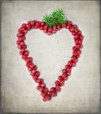Decoración roja del corazón de la Navidad Foto de archivo