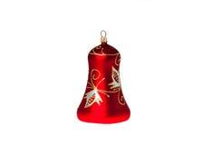 Decoración roja del handbell para un árbol del nuevo-año Imágenes de archivo libres de regalías