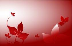 Decoración roja del jardín ilustración del vector