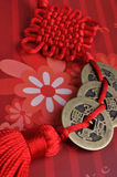 Decoración roja tradicional china del lazo Imágenes de archivo libres de regalías