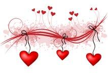 Decoración romántica con los corazones Imágenes de archivo libres de regalías