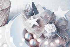Decoración romántica de la tabla de la Navidad Imagenes de archivo