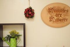 Decoración simple para las tablas y el lado de la esquina fotografía de archivo libre de regalías