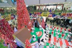 Decoración Snoopy de la Navidad APM en Hong Kong Imagen de archivo libre de regalías