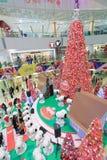 Decoración Snoopy de la Navidad APM en Hong Kong Foto de archivo libre de regalías