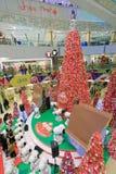Decoración Snoopy de la Navidad de APM en Hong Kong Fotografía de archivo libre de regalías