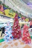 Decoración Snoopy de la Navidad de APM en Hong Kong Foto de archivo libre de regalías