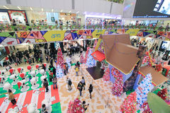 Decoración Snoopy de la Navidad de Hong Kong APM Fotografía de archivo libre de regalías