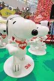 Decoración Snoopy de la Navidad de Hong Kong APM Imágenes de archivo libres de regalías