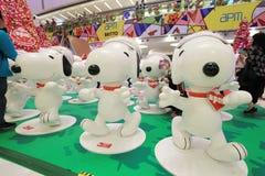 Decoración Snoopy de la Navidad de Hong Kong APM Fotografía de archivo