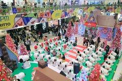 Decoración Snoopy de la Navidad de Hong Kong APM Foto de archivo libre de regalías
