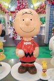 Decoración Snoopy de la Navidad en APM Foto de archivo libre de regalías
