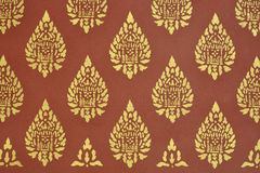 Decoración tailandesa de la pared Imágenes de archivo libres de regalías