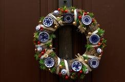Decoración tradicional de la Navidad imagen de archivo
