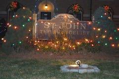 Decoración tradicional de los cristmass en Boston, los E.E.U.U. el 11 de diciembre de 2016 Fotos de archivo