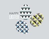 Decoración tribal del huevo de Pascua del concepto de la geometría