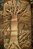 Decoración tribal en los recuerdos tradicionales, Kuching, Sarawak, Malasia de los motivos Imagen de archivo
