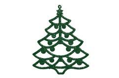 Decoración verde del árbol de navidad Imagen de archivo