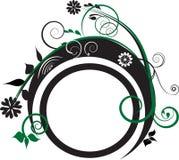 Decoración verde y negra stock de ilustración