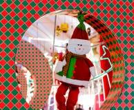 Decoración vestida del hombre de la nieve para la Navidad en Delhi Foto de archivo libre de regalías