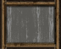 Decoración vieja del marco de madera Fotos de archivo
