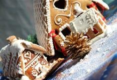 Decoración y dulces de la Navidad Fotos de archivo libres de regalías