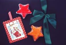 Decoración y jabones de la Navidad Foto de archivo libre de regalías