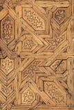 Decoraci?n tallada de madera de Alhambra fotos de archivo libres de regalías