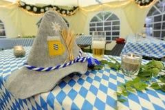 Decoración bávara de Oktoberfest Foto de archivo libre de regalías