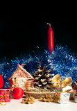 Decoración de la Navidad Fotografía de archivo