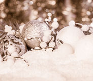 Decoración de la Navidad blanca Imagen de archivo