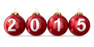Decoración de la Navidad en el fondo blanco 2015 años Imagenes de archivo