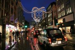Decoración de la Navidad en Londres Foto de archivo