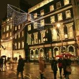 Decoración de la Navidad en Londres Fotos de archivo libres de regalías