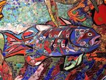 Decoración de la pared subacuática Imagen de archivo