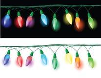 Decoración de las luces de la Navidad Foto de archivo