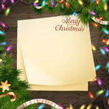 Decoración de papel de la Navidad de la bandera de la nota EPS 10 Imágenes de archivo libres de regalías