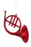Decoración del claxon de la Navidad Imagen de archivo libre de regalías