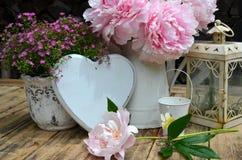 Decoración del corazón del jardín Imagen de archivo