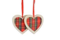 Decoración del día del árbol de navidad o de tarjetas del día de San Valentín Foto de archivo libre de regalías