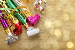Decoración del partido del Año Nuevo Imagen de archivo libre de regalías